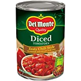 Del Monte Diced Tomatoes Zesty Chili Style, 14.5-Ounce (Pack of 12)