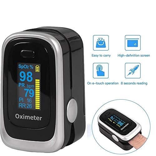 Si885monaL Oxímetro de pulso, el dedo del monitor de oxígeno, el oxímetro pueden detectar con precisión su pulso y la concentración de oxígeno en la sangre