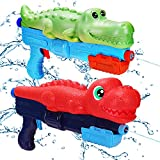 Water Guns for Kids Dinosaur Squirt Guns Long Range 2 Pack Toddler Gun Beach Toys Yard Games Adults Outside Outdoor Summer Gifts for Backyard Pool Toys for 2 3 5 year old Boys Girls Ages 2-4 4-8 8-12