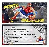 Einladungskarten zum Geburtstag der ultimative Spiderman Kinder Junge Teenager Mädchen Einladung...