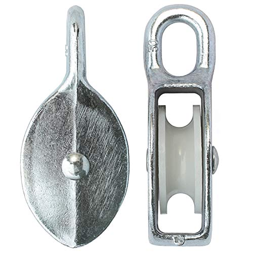 KeyMet GmbH Seilrolle Drahtseilblock Umlenkrolle Blockseilrolle 50 mm Blockrolle