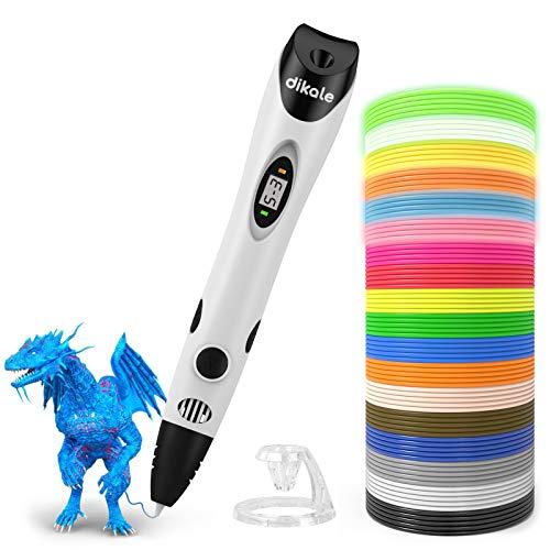 3D Stift Set für Kinder mit PLA 18 Farben -3D Drucker Stift, 3D Pen als kreatives Geschenk für Anfänger, Erwachsene und Bastler zu basteln, malen und 3D drücken