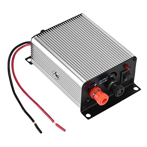 Bewinner Portable mini schakelende voeding, 24V - 13.8V transformator, universele autoradio voeding voor radiozenders (walkie talkies) in auto's met overspanningsbeveiliging