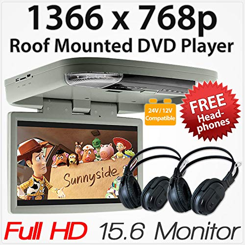 39,6 cm HD Auto DVD-Player Dach montiert Flip Down Monitor Bildschirm Van Bus 24 V 12 V