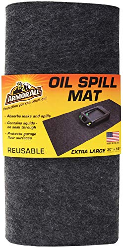 Drymate Armor All Oil Spill Mat, Absorbent/Waterproof Garage Floor Protector, Reusable/Durable (Made in The USA)