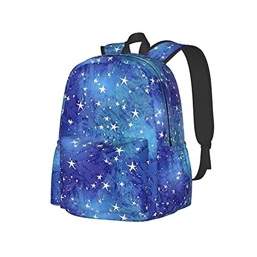 QQIAEJIA Zaino da 17 pollici Starry Sky Star Art Zaino per laptop Zaino scuola Bookbag Casual Daypack