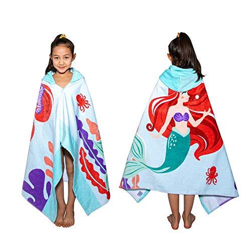 VNICGFOMGT - Toalla de baño con capucha para niños y niñas, algodón con capucha, toalla de playa de gran tamaño, suave y...