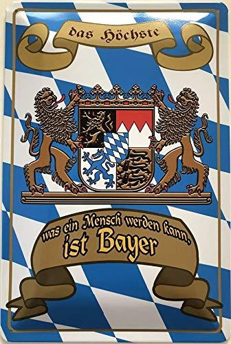 Deko7 Bayer Plaque décorative en tôle 30 x 20 cm