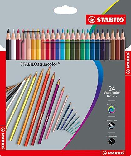 Scopri offerta per Matita colorata acquarellabile - STABILOaquacolor - Astuccio da 24 Grey Design - Colori assortiti