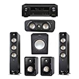 Polk Audio Signature 5.1 System with 2 S60 Tower Speaker, 1 Polk S30 Center Speaker, 2 Polk S15 Bookshelf Speaker, 1 Premier Acoustic PA-150 Powered Subwoofer , 1 Denon AVR-X1300W AV Receiver