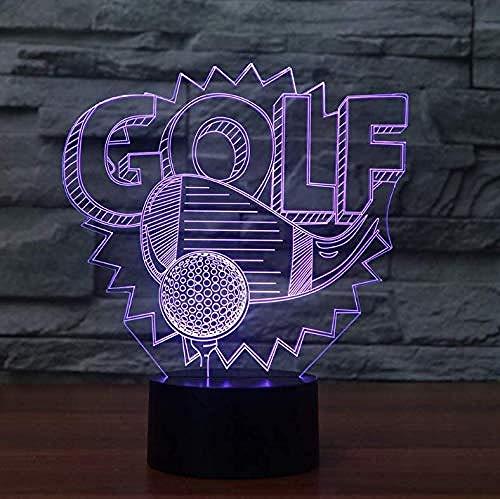 3D Illusion Nachtlicht Bluetooth Smart Control 7 & 16M Farbe Mobile App Led Vision Golfball Wohnkultur Schreibtisch Tisch Schlafzimmer Nachttisch Dekor Spielzeug bunt Kreatives Geschenk