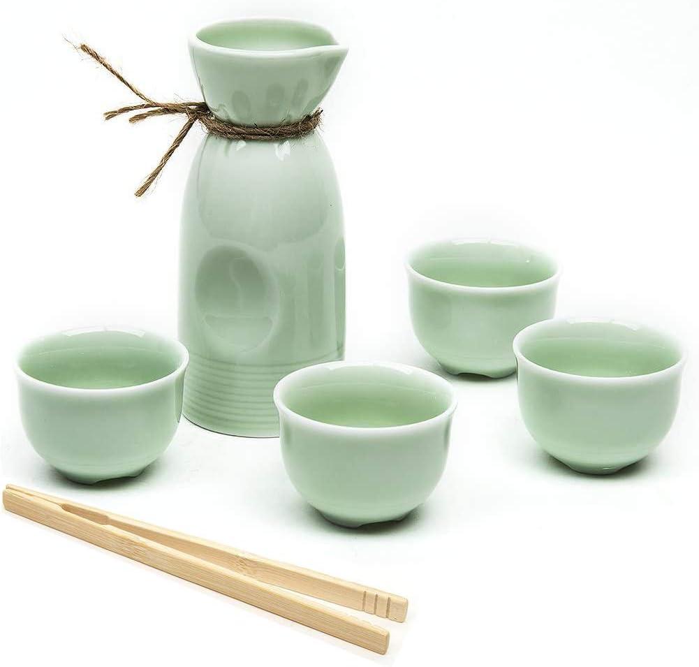 Japanese Superior Sake Set 5 Pieces Celado Clip Popular popular with Cup Bamboo