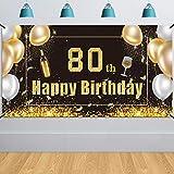 HOWAF Extra Große 80. Geburtstag Hintergrund Banner Photo
