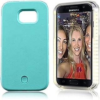 Lumee / Perfect Selfie LED M für Samsung S6 hellgrün, Wiederaufladbare Selfie Hülle, Light Case M, stabile Schutzhülle mit Front LED/Dimmerlicht für Samsung