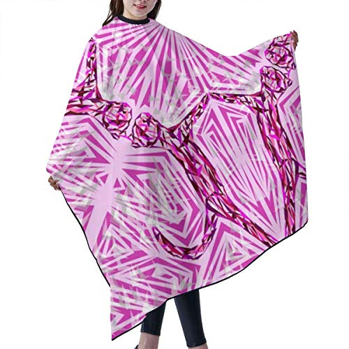 KIMIOE Cape étanche pour Salon de Coiffure Professionnel,Barber cloak,Pink Cat Fragmentation Salon Hair Cutting Gown Barber Cape Cloth
