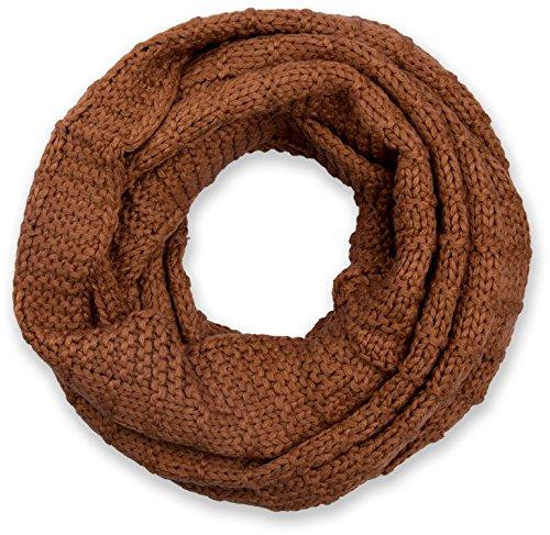 styleBREAKER gebreide lusjes sjaal, effen gebreide buisvormige sjaal, winterse gebreide sjaal, uniseks 01018154