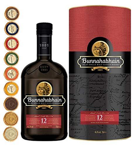 Bunnahabhain 12 Jahre Islay Single Malt Whisky + 9 Edel Schokoladen in 9 Sorten