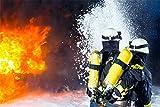 Feuerwehr Feuer löschen Bild XXL Wandbild Kunstdruck Foto
