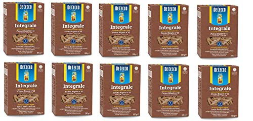 10x Pasta De Cecco Penne rigate integrali n 41 Vollkorn italienisch Nudeln 500 g