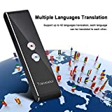 ASHATA Traductora,Traductora de Voz, Portátil Inteligente de 2 vías en Tiempo Real, Traductor de Multi-Idioma para Aprendizaje/Reunión/Viaje,Mini Translator Inalámbrica Bluetooth 2.4G