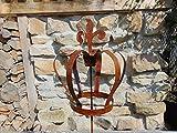 Edelrost Gartenstecker Beetstecker Gartendeko Krone groß