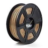 NO LOGO LSB-3D Stampe, Materiale Stampante 1pc 3D filamento PLA 1.75mm 3D consumabili plastici filamento 3D PLA (Colore : Oro)