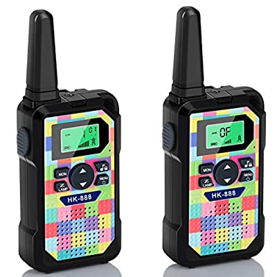Walkie Talkies for Kids 2 Pack, 22 Channels 2 Way Radio 3 KMs Range VOX Talking with Flashlight, LCD Screen, Handheld Interphone Gifts for 3-12 Year Old Boys Girls Outdoor Camping Hiking (Camo Square) from Batlofty
