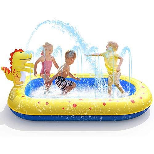 EEUK Splash Pad para Niños, Almohadilla de Aspersión de 170 Cm Juego de Verano para Actividades Familiares para Actividades Familiares Aire Libre Fiesta Playa Jardín