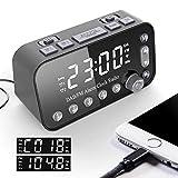 Riiai DAB Bedside Alarm Clock Radio Large Sn Dual Alarm Clock Dual USB