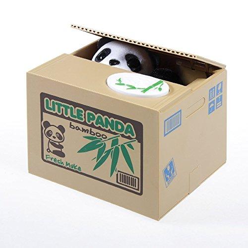 JZK® Elektronische Spardose Sparbüchse Katze stehlen Geld Münze Piggy Bank Geld Münze Box (Panda)