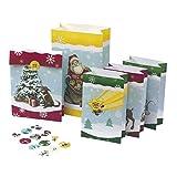 24 Adventstütchen für Kinder: mit Zahlenetiketten 1-24