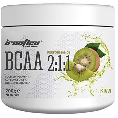 Iron Flex BCAA 2-1-1-1 Pack - Branched Chain Amino Acids in Powder - Muscle Regeneration - Anticatabolic (Kiwi, 200g)