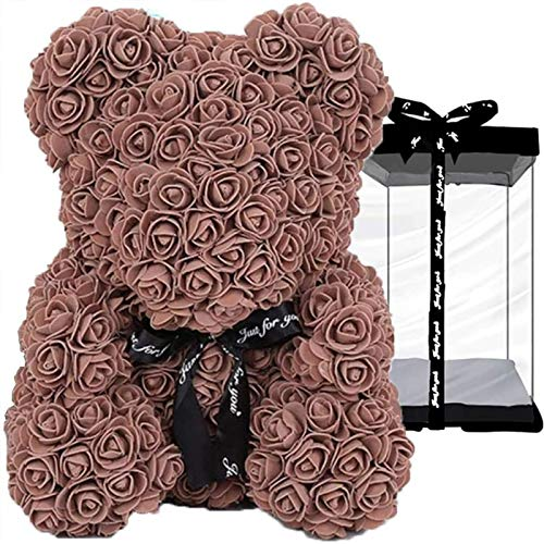 Xjia Rose Teddy Bear,Rose Bear Teddy Flower Box,for Valentine