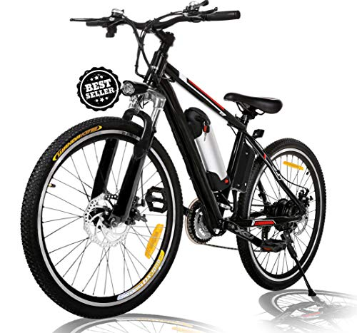 Angotrade 26 inch Electric Bike Mountain E-Bike 21 Speed 36V 8A Lithium Battery Electric Bicycle for Adult