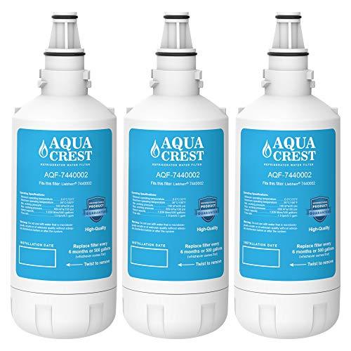 AQUACREST 7440002 Kühschrank-Wasserfilter, kompatibel mit Liebherr 7440000, 7440002, 7731240-00, 53-WF-26LR, 440002, alle CNes Modelle wie CNes 5166-11,CNes 5166-10A (3)