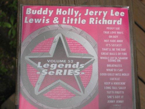 LEGENDS Karaoke CDG Vol.52 BUDDY HOLLY, JERRY LEE LEWIS and LITTLE RICHARD