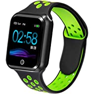 Fitness Tracker with Heart Rate Blood Pressure Monitor, Waterproof Fitness Watch, Bluetooth Smart...