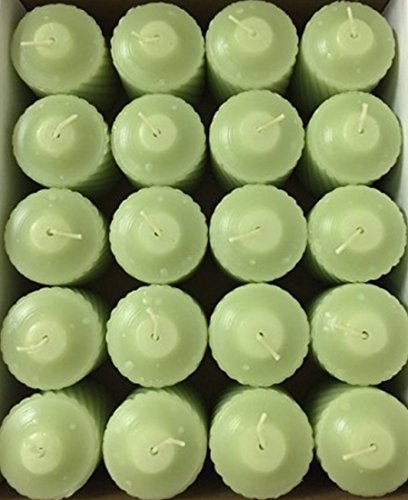 15 hour Sage scented Votive Candles (Set of 20) Light Sage - Garden Fern Lead free Cotton Wicks, Made in USA