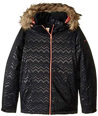 Roxy Snow Big American Pie Solid Girl Jacket, True Black AZTECSPIRITEMBOS, 16/XXL