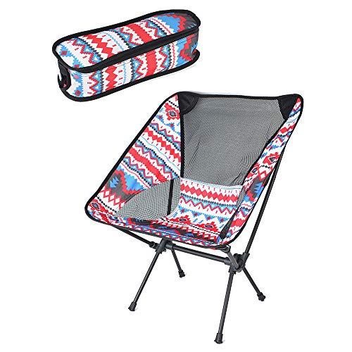 BYBYC Plegables portátiles de Pesca Silla de Picnic sillas de Camping Plegable Silla de Playa con Mochila de Peso Ligero con Bolsa de Transporte,Rosado