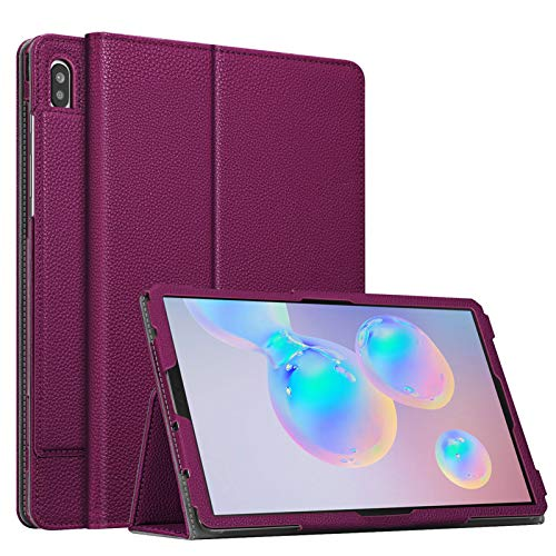 Fintie Folio Case for Samsung Galaxy Tab S6 10.5\' 2019 (Model SM-T860/T865/T867), [Patented S Pen Slot Design] Slim Fit Stand Cover Auto Sleep/Wake, Purple