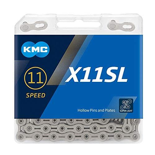 KMC, Plata Cadena X11 SL, 11v, 118, Hombres, 114 eslabones