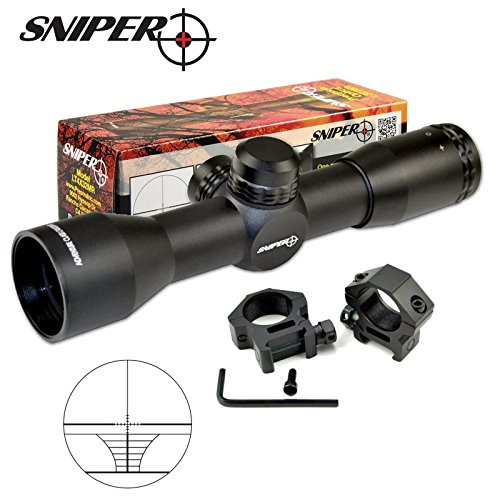 Sniper Compact Rifle Scope MT4x32 with Ring, Hunting Scope