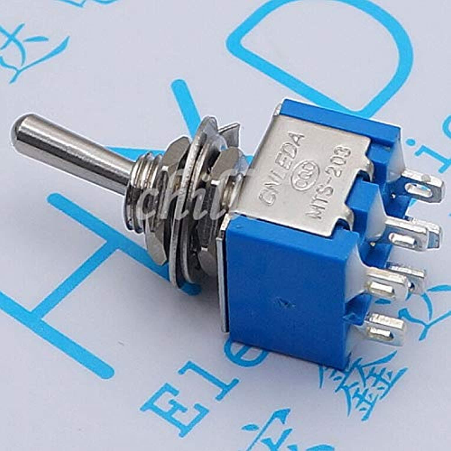 30PCS   Toggle Switch MTS203 Double Button Switch 203 6A 125V 3A 250V Third lioujiao