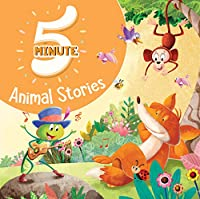 5 Minute Animal Stories - Premium Quality Padded & Glittered Book
