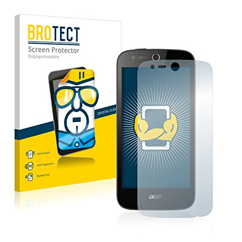BROTECT Schutzfolie kompatibel mit Acer Liquid Z330 (2 Stück) klare Bildschirmschutz-Folie
