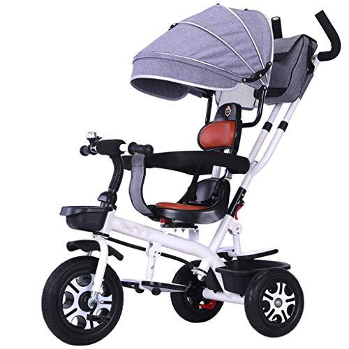 Fashion SHOP Cochecitos El Triciclo Ajustable del Triciclo de los niños con el Carro del Cochecito del Bolso de la Momia del toldo Conveniente for 1~6 años Cochecitos y Accesorios (Color : C)