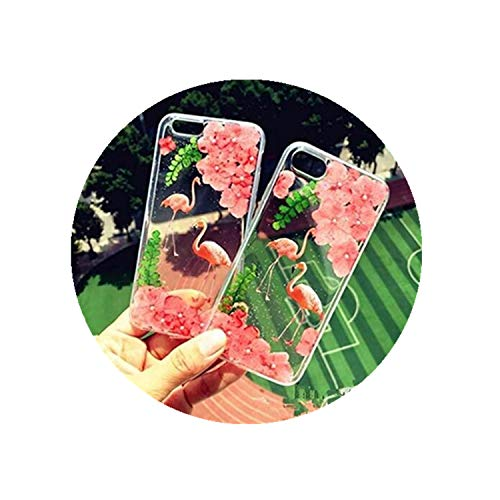 One Life ,one jewerly VIVO V7 PLUS Carcasa móvil de flor seca, carcasa de teléfono móvil flamenco, hecha a mano. (¿qué tipo de carcasa de teléfono móvil se necesita?
