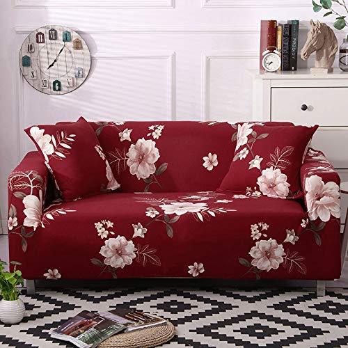 WXQY Funda de sofá elástica con Estampado Floral, Funda de protección elástica para Muebles, Funda de sofá, Funda de sofá de Esquina en Forma de L para Sala de Estar A8 4 plazas