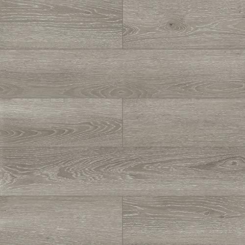 Dotfloor Vinyl Planks Flooring Tiles 30.88 sq.ft SPC Floor Plank Interlocking Floating Planks Glue Free Wood Grain with IXPE Underlay 4.5mm for Home Office Bathroom(Grayland)